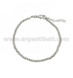 BALL BRACELET 3 MM SILVER RHODIUM 925 ‰ WITH CLOSURE