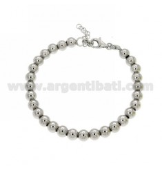 BRACELET SPHERES 8 MM WITH CLOSURE IN AG TIT 925 ‰ RODIATO