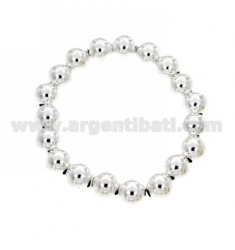 BRACELET WITH BALL SPRING OF 10 MM SILVER 925 ‰
