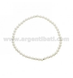 BRACELET WITH BALL SPRING 3 MM IN AG TIT 925 ‰