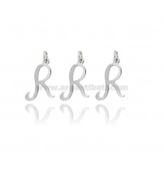 PENDANT LETTER R PZ 3 MM 23X14 IN SILVER PLATINATED 925 ‰