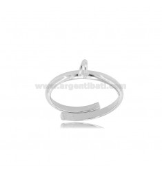 BASE PER ANELLO CON MAGLINA IN ARGENTO RODIATO 925‰
