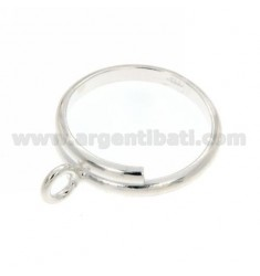 BASE RING IN SILVER WITH MAGLINA 925 ‰
