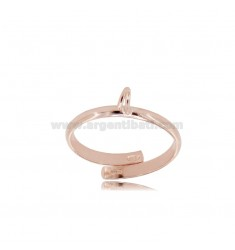 925 ‰ ROSE GOLD PLATED SILVER RING BASE MIT JERSEY