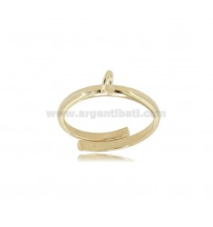 925 ‰ GOLD PLATED SILVER RING BASE WITH JERSEY