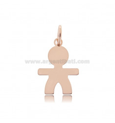 CHARM BABY SHEET MIS 2,6X2,0 IN SILVER PLATED ROSE GOLD 925 ‰