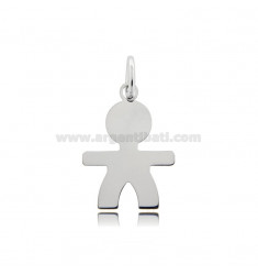 CHARM BABY SHEET MIS 2,6X2,0 IN RHODIUM-PLATED SILVER 925 ‰