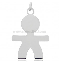 CHARM BABY SHEET MIS 5X3,60 IN RHODIUM-PLATED SILVER 925 ‰