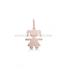 CHARM GIRL A SHEET MIS 1,70X1,30 SILVER PLATED ROSE GOLD 925 ‰
