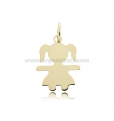 CHARM BABY SHEET MIS 2,6X2,0 IN SILVER GOLD PLATED 925 ‰