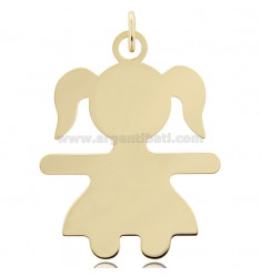 CHARM BABY SHEET MIS 5,0X3,8 IN SILVER GOLD PLATED 925 ‰