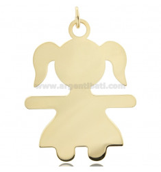 CHARM BABY SHEET MIS 6,0X4,5 IN SILVER GOLD PLATED 925 ‰