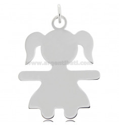 CHARM BABY SHEET MIS 5,0X3,8 IN RHODIUM-PLATED SILVER 925 ‰