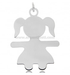 CHARM BABY SHEET MIS 6,0X4,5 IN RHODIUM-PLATED SILVER 925 ‰
