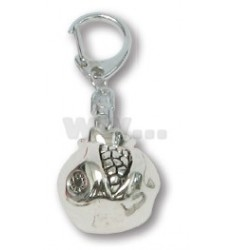 KEY RING WITH POMEGRANATE DIAM.3 CM BAG CHRISTMAS