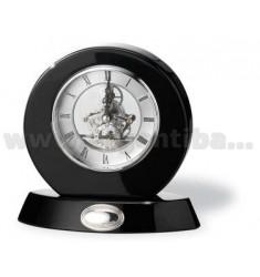 ROUND CLOCK MECHANISM TO VIEW 16X16 CM WOOD BLACK ARG.