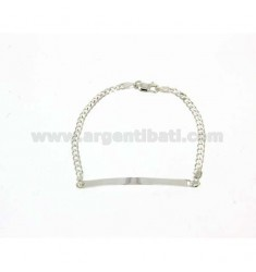 PLATE 18 CM 3 MM BRACELET IN SILVER TITLE 925 ‰