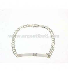 5 MM 20 CM PLATE BRACELET IN SILVER TITLE 925 ‰