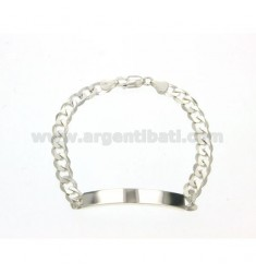 7 MM 21 CM PLATE BRACELET IN SILVER TITLE 925 ‰