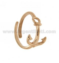 ADJUSTABLE RING WITH YET STYLISH ROSE GOLD PLATED SILVER 925