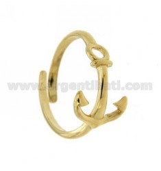 ADJUSTABLE RING WITH YET STYLISH GOLD PLATED SILVER 925