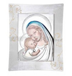 MADONNA WITH CHILD UNDER COLORED CM 52X62 R / WOOD LAM.AG