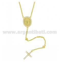 CHAPLET SILVER GOLD PLATED TIT 925 ‰ E ZIRCONS