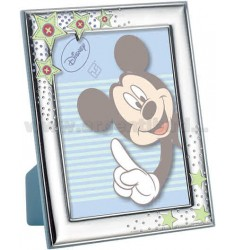 MICKEY BLUE FRAME POLISHED AND SATIN 13X18 CM R / WOOD ARG.
