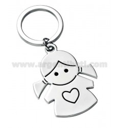 KEY RING GIRL WITH HEART