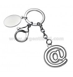 @ KEY RING WITH PLATE