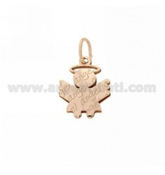 AG PLATED PENDANT ANGEL ANGEL IN PINK GOLD IN TIT AG 925