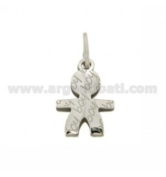 BABY BOY PENDANT 18x13 MM IN AG TIT RODIATO 925 ‰