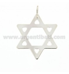 STAR OF DAVID PENDANT 925 SILVER LASER CUTTING ‰