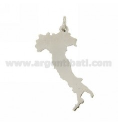 CIONDOLO ITALIA TAGLIO LASER MM 33X16 IN ARGENTO RODIATO 925‰