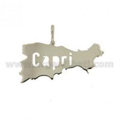 CAPRI ISLAND LASER CHARM DE CORTE MM 17X37 PLATA 925