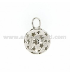CALL ANGELS PENDANT 18 MM WITH STARS IN perforated AG RODIATO TIT 925