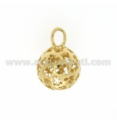 CALL ANGELS PENDANT 18 MM WITH ANGELS IN PERFORATED AG GOLD PLATED TIT 925
