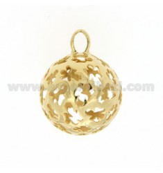CALL ANGELS PENDANT 23 MM WITH ANGELS IN PERFORATED AG GOLD PLATED TIT 925