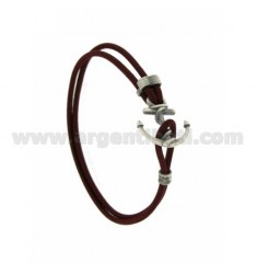 ELASTIC BRACELET WITH BORDEAUX STILL AG BRUNITO TIT 925
