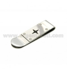 MONEY CLIPS STEEL WITH WIND ROSE CARBON FIBER