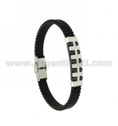 BRACELET STEEL PLATE AND RUBBER &39