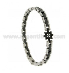 HELM AND STEEL BRACELET WITH BLACK CERAMIC