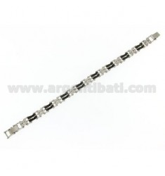 JOINT AND STEEL CERAMIC BRACELET BLACK