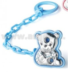 Doudou BEAR BROOCH BLUE LAM.AG