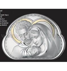 HOLY HOLY FAMILY SAG.CM 44x32, 5 WITH GOLD R / WOOD BIL.AG