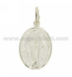 20x14 MM OVAL PENDANT MADONNINA MIRACULOUS IN TIT AG 925
