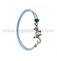 ELASTIC BRACELET WITH BLUE IN JECO AG BRUNITO TIT 925