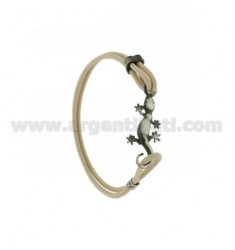 ELASTIC BRACELET IN IVORY WITH JECO AG BRUNITO TIT 925