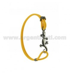 ELASTIC BRACELET IN YELLOW WITH JECO AG BRUNITO TIT 925