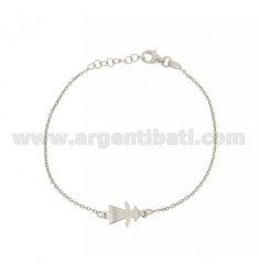 MICRO CABLE BRACELET WITH A GIRL IN CENTRAL PLATE RHODIUM AG TIT 925 CM 18